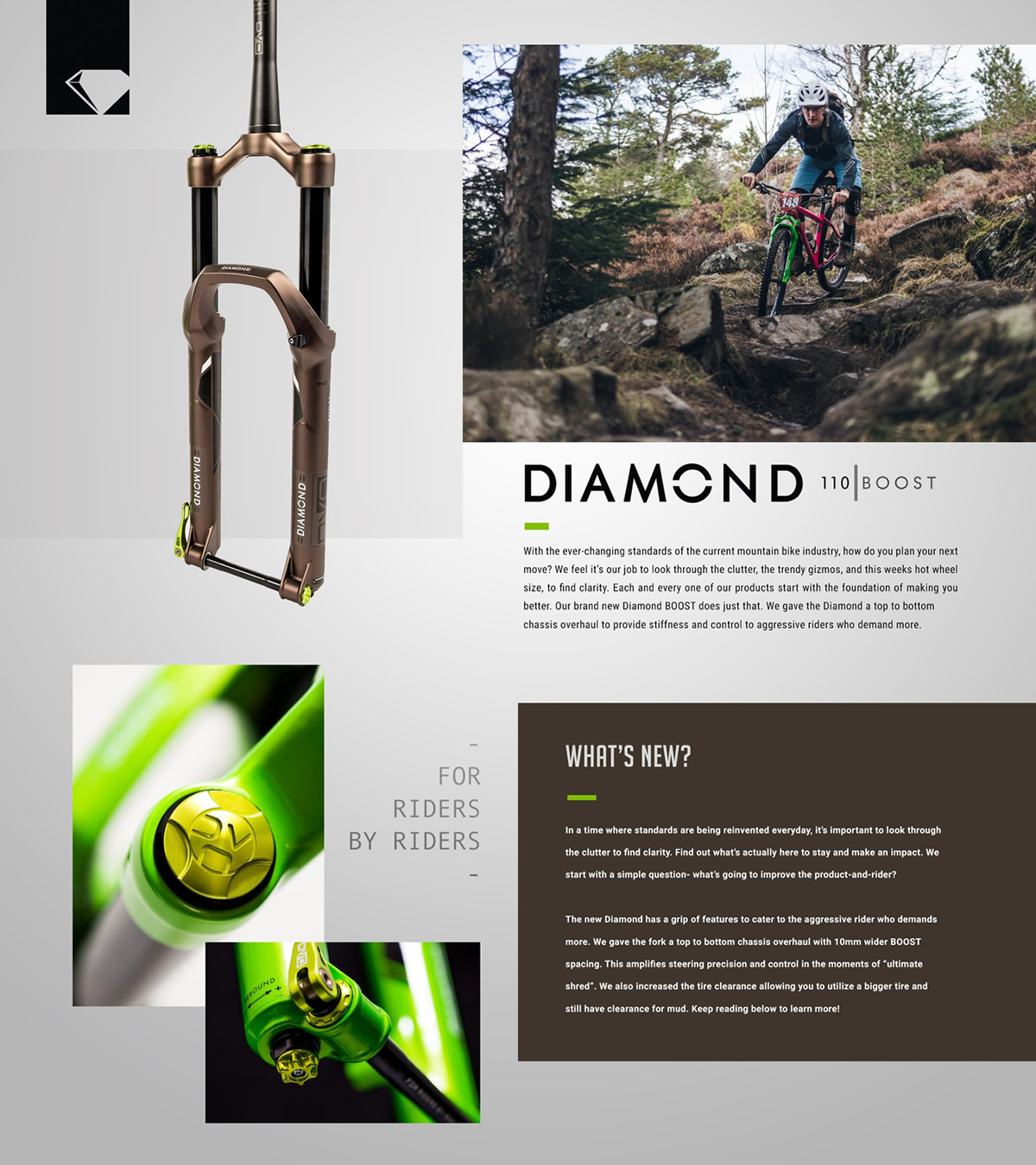 Pipedream Cycles DVO Diamond Boost Fork